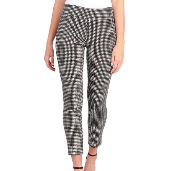 c59e1e8b06f Jules   Leopold Pants - Pull on B   W checkered Stretch Slim Cut Crop Pant